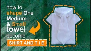 SHIRT AND TIE - TOWEL DESIGN
