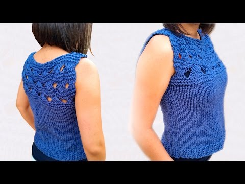 (Fast and Easy) How to knit the  Indian Cross Top for Beginners