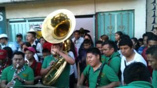 carnaval santiago acahualtepec 2014 banda la super tierra y banda tierra mojada 2