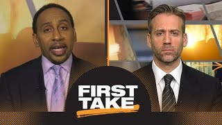 Stephen A. and Max finally agree: LeBron James on Lakers no threat to Warriors | First Take | ESPN thumbnail