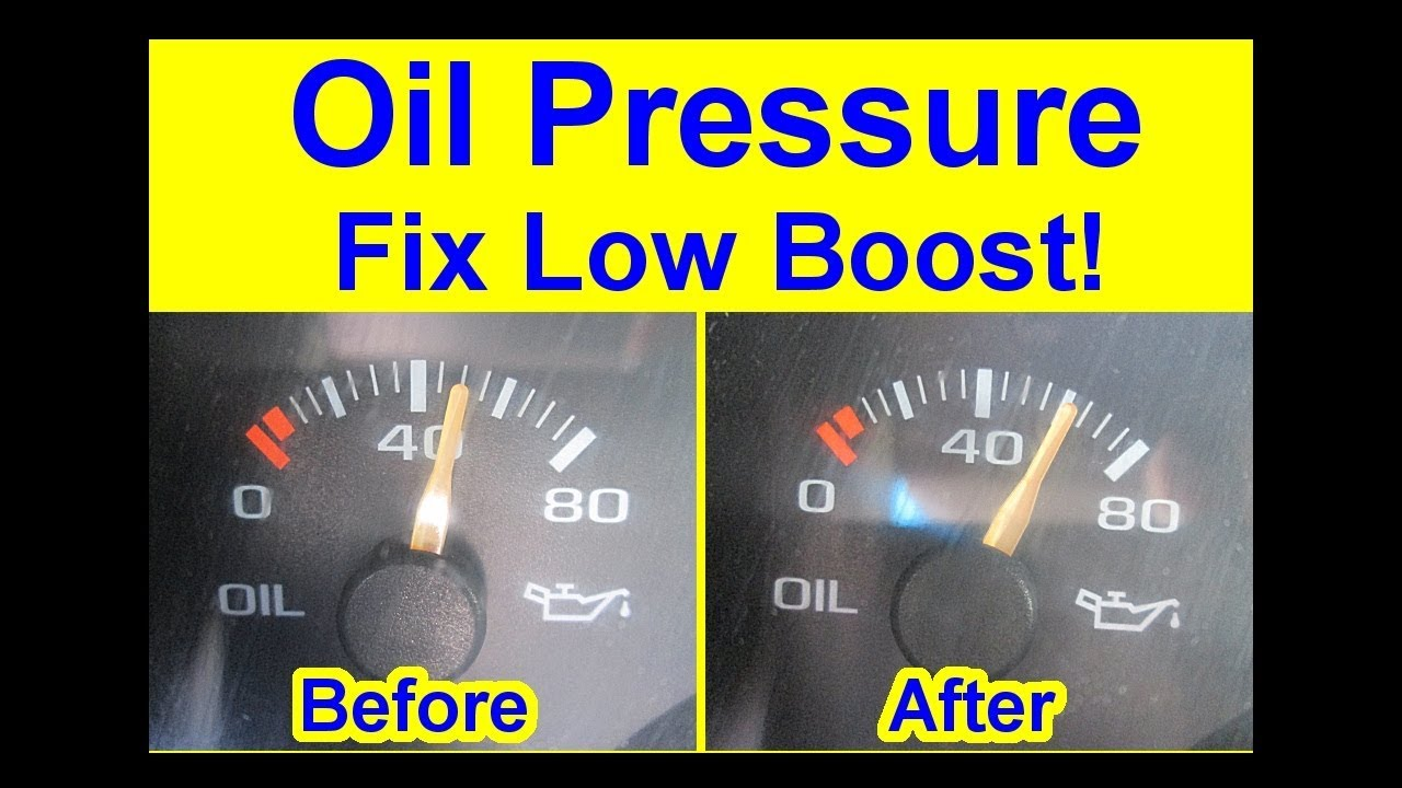 DIY   How To Fix Oil Pressure Low Boost   Quick Tips Warning Light Causes  High Gauge Jump