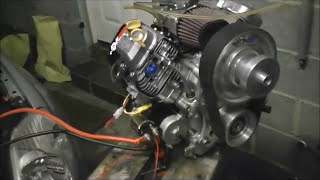 Tuned Vanguard Microlight Aircraft Engine, first run