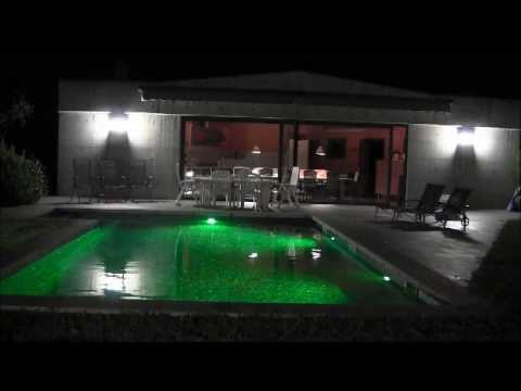 Iluminaci n led piscina youtube for Luces para piscinas
