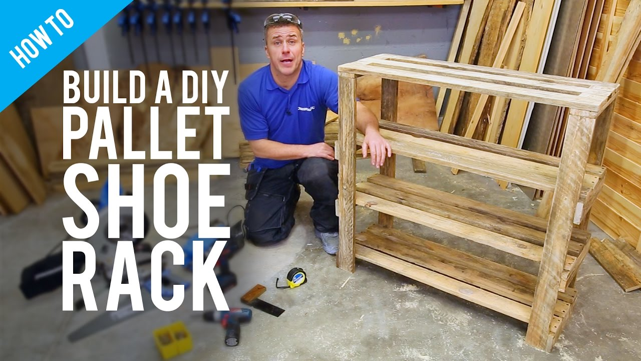 Build A Diy Pallet Shoe Rack Youtube