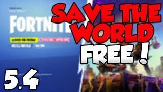 *NEW* Fortnite Save The World FREE GLITCH 5.40! Save The World FREE Update 5.40