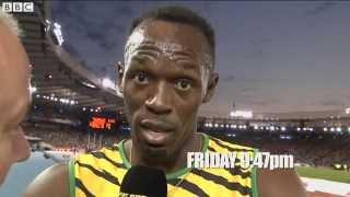 Glasgow 2014: Usain Bolt calls out BBC presenter Gabby Logan