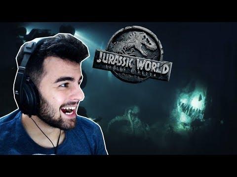 REACT (REAÇÃO) AO TRAILER FINAL | JURASSIC WORLD 2: Reino Ameaçado #3 (HD) | Indoraptor!! (PT/BR)