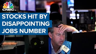 Stocks hit by disappointing jobs number