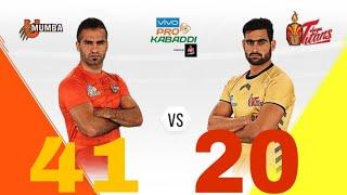 Pro Kabaddi 2018:U Mumba Vs Telugu Titans : Match Highlights