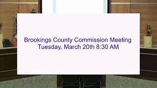 Brookings County Commission 2018-03-20