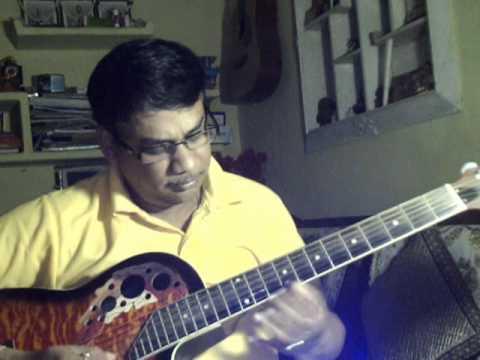 Amar shilpi tumi Kishore Kumar on Guitar