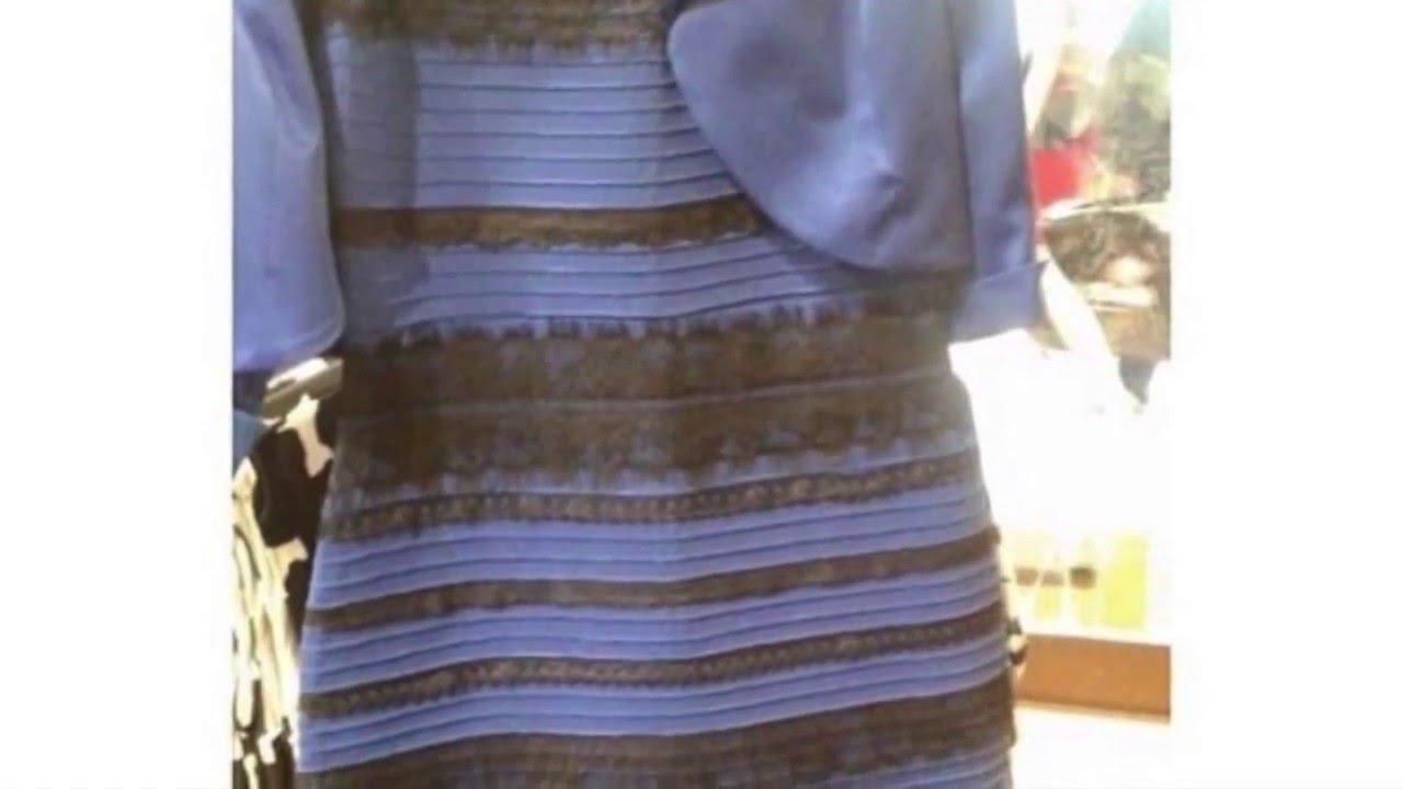 Обман зрения с цветом платье