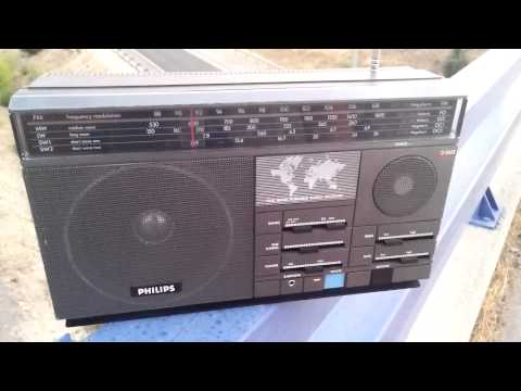 Philips D2615 Shortwave Radio Demonstration