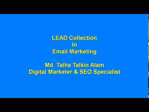 LEDP Class: Lead Collection in Email Marketing Bangla Tutorial 2017