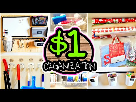 20 Dollar Store Organization Hacks & Ideas