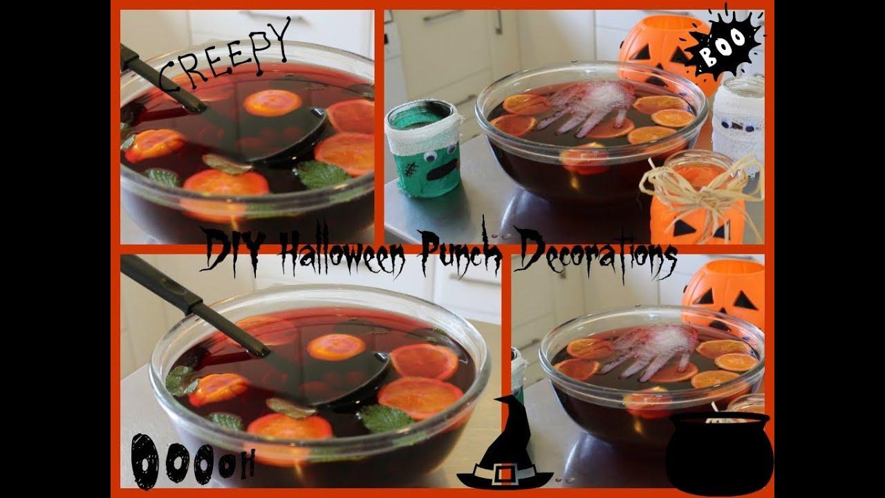 DIY Halloween Themed Punch: Spooky Ice Hand & Eye Ball Soup. - YouTube