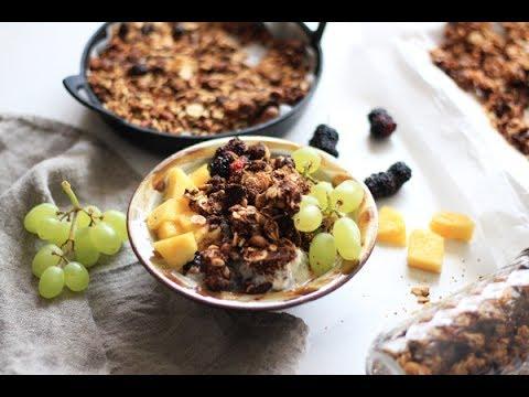 兩款燕麥穀物早餐Granola,泡牛奶佐優格都香脆美味