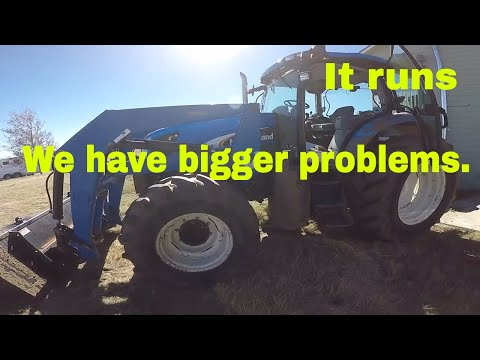 Installing the injection pump on the New Holland TS115A - YouTube