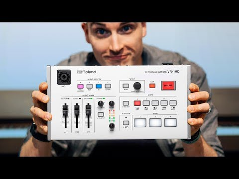 Easy-to-Use HD Video Switcher For Live-Streaming — Roland VR-1HD