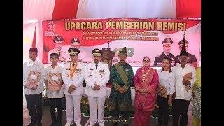 Rangkaian Upacara HUT RI ke-74 di Kanwil Kemenkumham Riau dan Pemberian Remisi