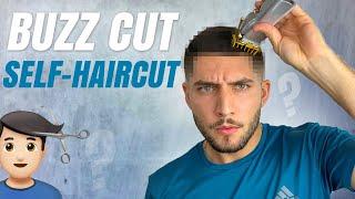 Buzz Cut Self-Haircut Tut๐rial | How To Cut Your Own Hair