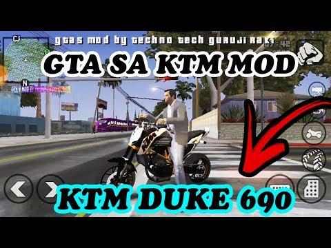 GTA SA KTM DUKE 690 ANDROID NEW KTM BIKE MOD