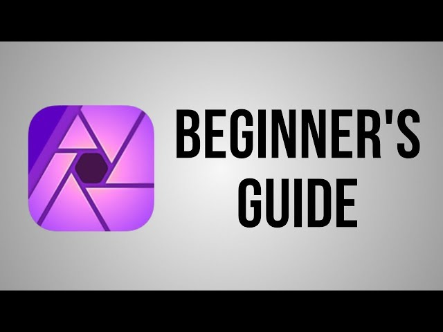 Affinity Photo iPad for Beginners