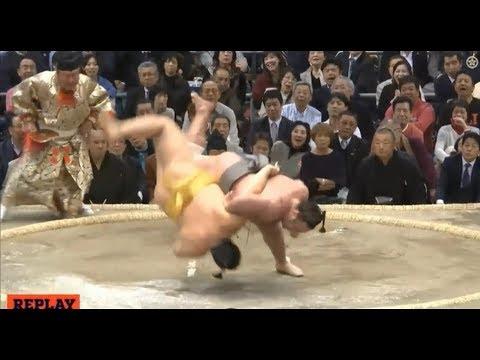 Tochinoshin vs Endo - Osaka 2018, Day 6