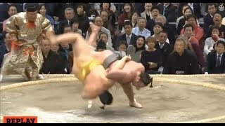 Tochinoshin vs Endo - Osaka 2018, Day 6