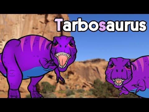 [Subtitle] Tarbosaurus vs Tyrannosaurus |  Biggest Asian Dinosaur★Genikids