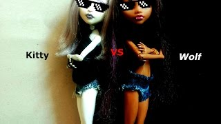 Клип | Kitty VS Wolf | Stop Motion. Monster High.