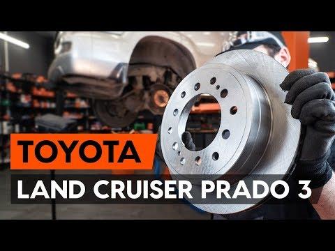 Как заменить задние тормозные диски наTOYOTA LAND CRUISER PRADO 3 (J120)[ВИДЕОУРОК AUTODOC]
