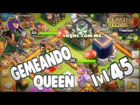 3x1 PONIENDO,GEMEANDO Y PROBANDO REINA AL 45(URI)clash of clans guillenlp28