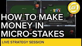 Evan from gripsed.com plays 4 tables of microstakes poker and teaches you why need to keep things simple when playing microstakes. your decision mak...