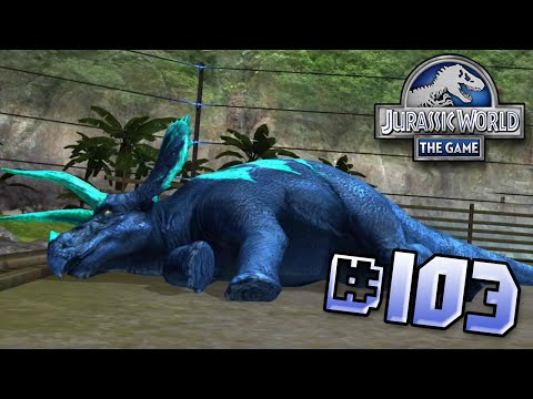 One Sick, Triceratops. Brawlasaurs || Jurassic World - The Game - Ep 103 HD