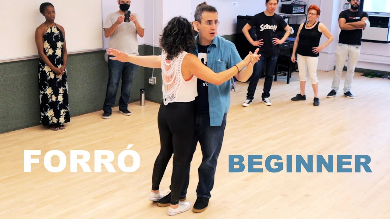 Forro dance basic steps - Recapitulation of movements at the end of a class for beginners in NYC