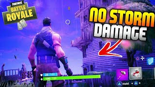 GAME BREAKING Storm Glitch In Fortnite! - How To Take No DAMAGE From The Storm Glitch In Fortnite!