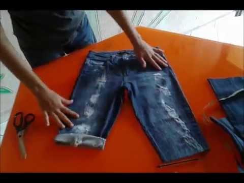 Tutorial: como transformar sua calça velha em uma bermuda