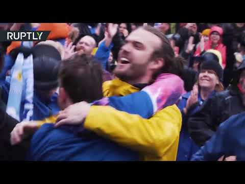Dancing Reykjavik: Iceland fans burst into cheers after team's draw with Argentina