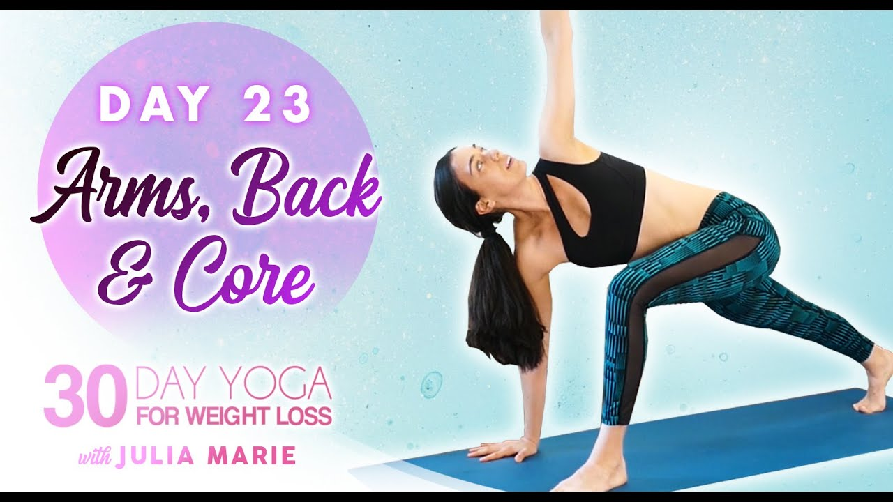 Toned Abs & Arms Fat Burning Workout | 30 Day Yoga Weight Loss Julia Marie Day 23