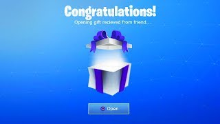 *NEW* OPENING A GIFT IN FORTNITE! (What Happens Next?)