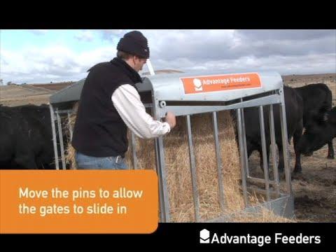 Advantage Feeders Sliding Gates Hay Feeders