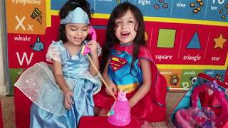 TOYS REVIEW- ABRIENDO JUGUETES-NANCY FANCY PHONE+ PLAY-DOH+ VANITY SET! TWO SISTERS AND TOYS REVIEW!