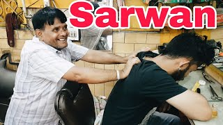 Sarwan Intense head massage with neck cracking | Indian Massage