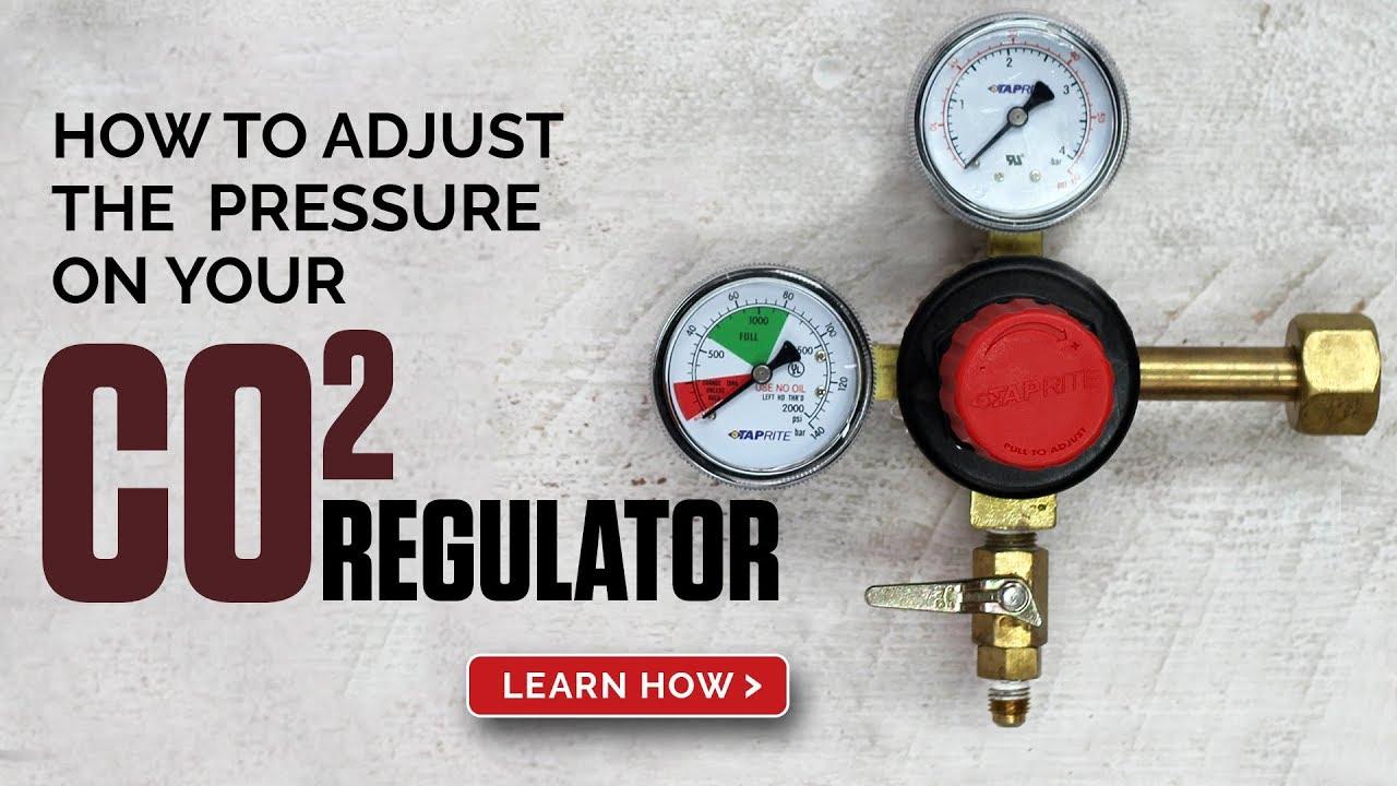 how to adjust the pressure on a co2 beer regulator [ 1280 x 720 Pixel ]