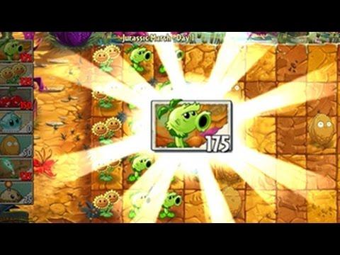 เกมส์พืชปะทะซอมบี้ 2: Jurassic Marsh - Day 1