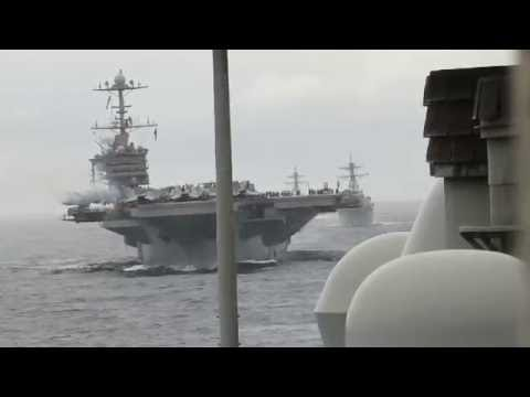 USS Anzio and task force on the 4th of July