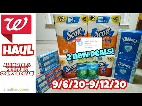 Walgreens Haul 9/6/20-9/12/20! All Digital and Printable Coupon Deals!