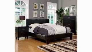 Platform Bed-furniture Of America Lauren Leatherette Upholstered Platform Bed:we Love It!