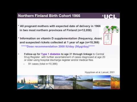 Vitamin D in pregnancy, birth and later life Dr Elina Hypponen